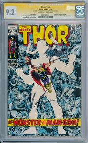 Thor #169 CGC 9.2 Signature Series Signed Stan Lee Chris Hemsworth Galactus Origin Marvel comic